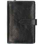 Dámská kožená peněženka SEGALI 3743 čierna/modrá