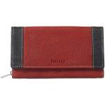 Dámska kožená peňaženka SEGALI 61288 WO červená/čierna