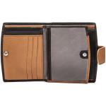 Dámska kožená peňaženka SEGALI 61071 čierna/koňaková