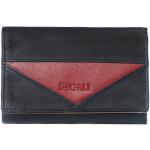 Dámska kožená peňaženka SEGALI 7020 čierna/červená