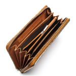 Dámska kožená peňaženka SEGALI 612 06 9086 koňaková/zlatá