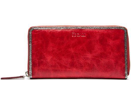 Dámska kožená peňaženka SEGALI 612 06 9086 fiama červená