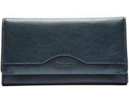 Dámska kožená peňaženka SEGALI 1128 navy