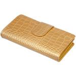 Dámska kožená peňaženka SEGALI W 70099 zlatá