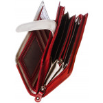 Dámska kožená peňaženka SEGALI 668 N saffiano červená/béžová