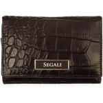 Dámska kožená peňaženka SEGALI 910 19 9510 hnedá