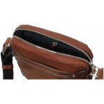 Pánský kožený crossbag SEGALI 346 koňak