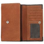 Dámska kožená peňaženka SEGALI 61288 WO oranžová/čierna