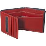 Dámska kožená peňaženka SEGALI 150719 čierna/červená