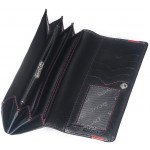 Dámska kožená peňaženka SEGALI 2025A čierna/červená