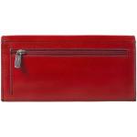 Dámska kožená peňaženka SEGALI 2025A červená/čierna