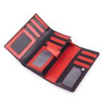 Dámska kožená peňaženka SEGALI 09 micra čierna/červená