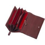 Dámska kožená peňaženka SEGALI 6843/CO2 portwine