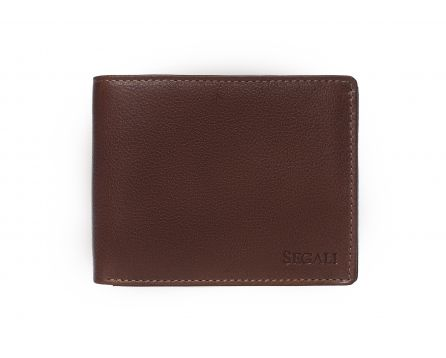 Pánska kožená peňaženka SEGALI 81047 hnedá