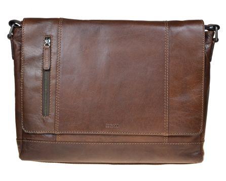 Pánská kožená taška SEGALI 25581 hnědá