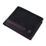 Pánska kožená peňaženka SEGALI 753 115 026 čierna/červená