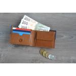 Pánska kožená peňaženka SEGALI 80892 koňak/modrá