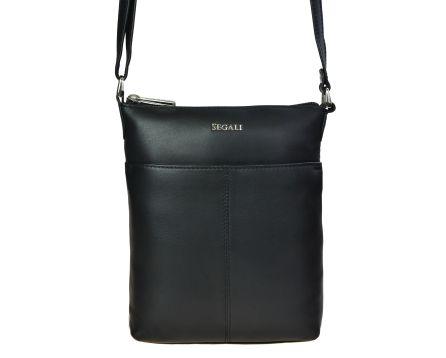 Dámska kožená kabelka SEGALI 7001 čierna