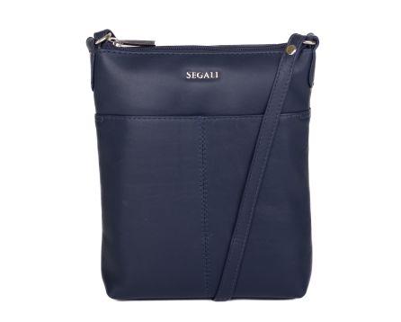 Dámská kožená kabelka SEGALI 7001 modrá