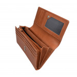 Dámska kožená peňaženka SEGALI 7052 koňak