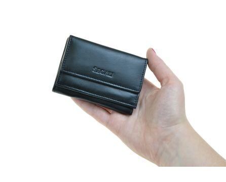 Dámska kožená peňaženka SEGALI 1756 čierna