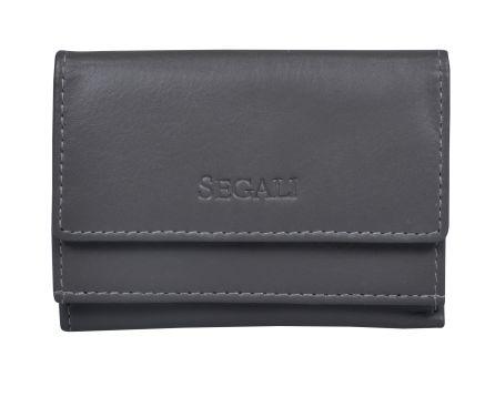 Dámska kožená peňaženka SEGALI 1756 šedá