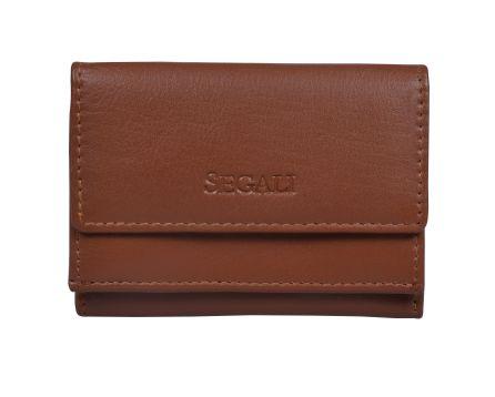 Dámska kožená peňaženka SEGALI 1756 koňak