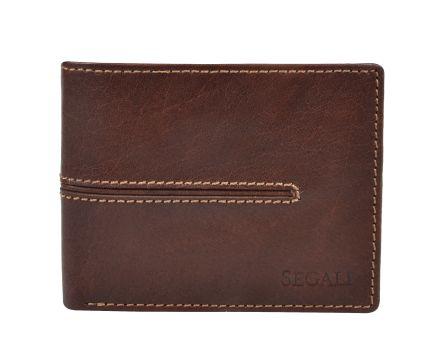 Pánská kožená peněženka s RFID SEGALI 7105 hnědá