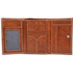 Dámska kožená peňaženka SEGALI 7023 Z tan