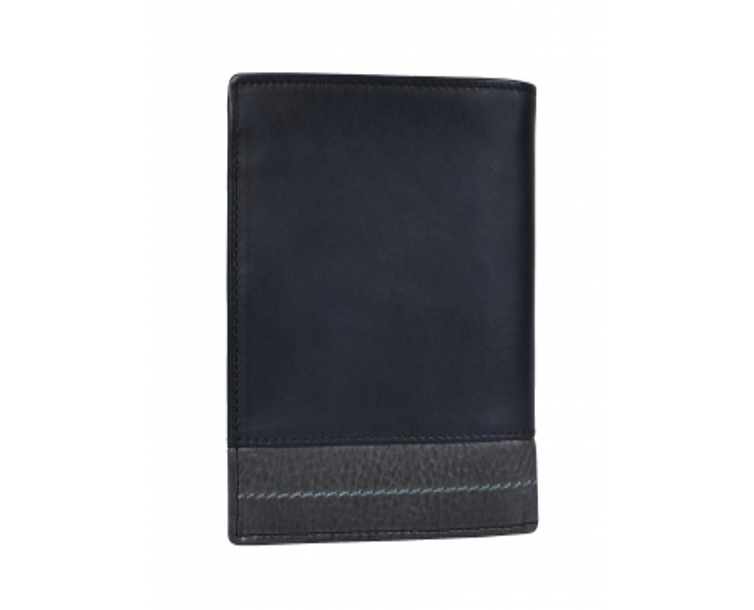 Pánska kožená peňaženka SEGALI 951 320 2519 čierna/sivá