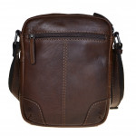Pánský kožený crossbag SEGALI 25577 hnědý