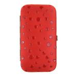 Dámska manikúra SEGALI 230404-036 červená s bodkami