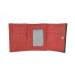 Dámska kožená peňaženka SEGALI 61420 W červená/čierna