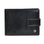 Pánska kožená peňaženka SEGALI 907 114 2007C čierna/koňaková