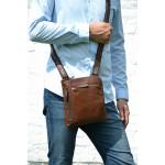 Pánský kožený crossbag SEGALI 25579 hnědý