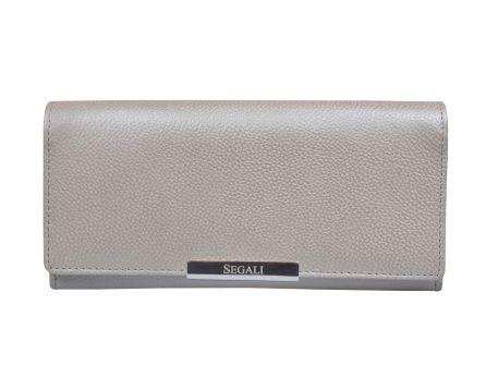 Dámska kožená peňaženka SEGALI 7066 strieborná