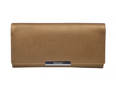 Dámska kožená peňaženka SEGALI 7066 zlatá