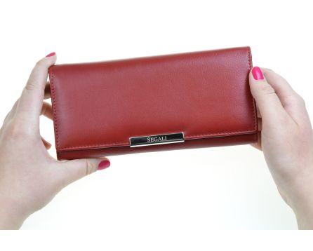 Dámska kožená peňaženka SEGALI 7066 červená wj