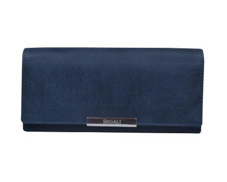 Dámska kožená peňaženka SEGALI 7066 indigo
