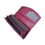 Dámska kožená peňaženka SEGALI 7056 fucsia