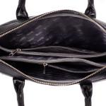 Pánská kožená taška SEGALI 7009 černá s popruhem