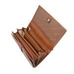 Dámska kožená peňaženka SEGALI 720 116 704 koňaková
