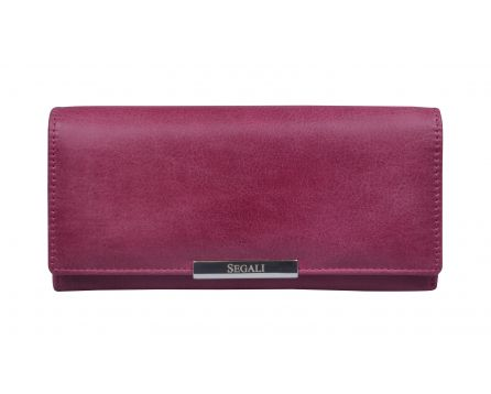 Dámska kožená peňaženka SEGALI 7066 fuchsia