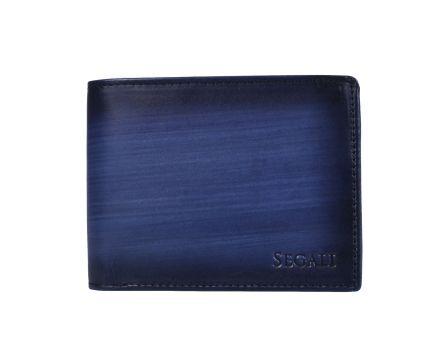 Pánska kožená peňaženka SEGALI 929 204 030 modrá/čierna