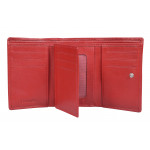 Dámska kožená peňaženka SEGALI 7020 červená/čierna