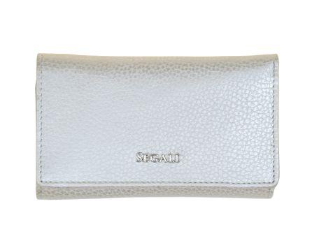 Dámska kožená peňaženka SEGALI 7074 strieborná