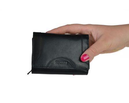 Dámska kožená peňaženka SEGALI 7196 B čierna