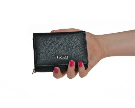 Dámska kožená peňaženka SEGALI 7106 čierna