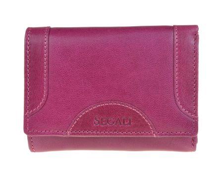 Dámska kožená peňaženka SEGALI 7196 B fucsia