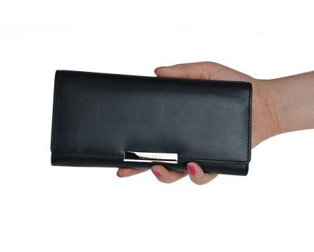 Dámska kožená peňaženka SEGALI 7066 čierna